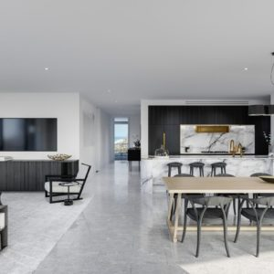 Infinity, Broadbeach Kitchen Living 1