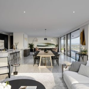 Infinity, Broadbeach Kitchen Living