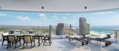 Infinity, Broadbeach View Balcony