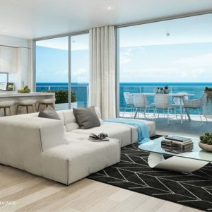 Northcliffe Residences, Surfers Paradise Kitchen Living