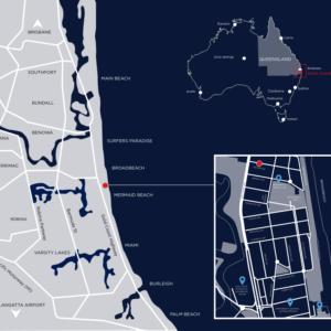 Location Map Dark Blue
