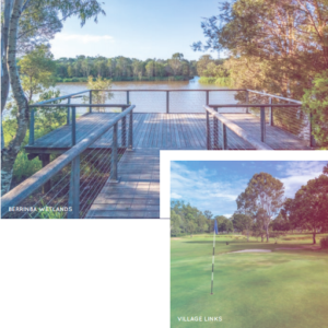 Golfing And Lake